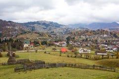 Dambovicioara village Stock Image