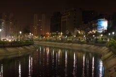 Dambovita flod Royaltyfri Fotografi