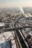 Dambovita river - aerial view Stock Photo