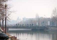Dambovita river bridges Stock Photography