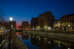 Dambovita river in Bucharest Royalty Free Stock Photos