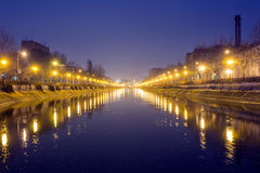 Dambovita river, Bucharest Stock Photography