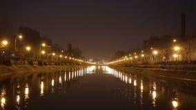 Dambovita river, Bucharest stock footage