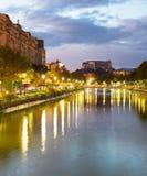Dambovita river. Bucharest, Romania Royalty Free Stock Images
