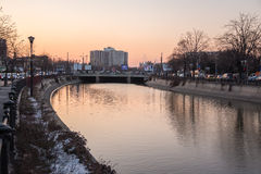 Dambovita river in Bucharest Royalty Free Stock Photos