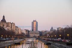 Dambovita river in Bucharest Royalty Free Stock Image