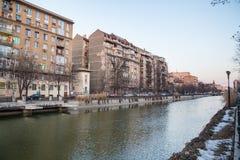 Dambovita river in Bucharest Stock Photos