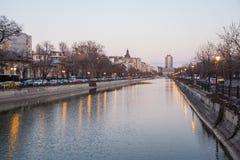 Dambovita river in Bucharest Stock Image