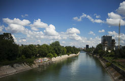 Dambovita rzeka Obraz Royalty Free