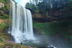 Dambri瀑布-在Lam Dong越南 免版税库存照片