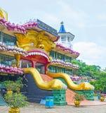 Dambulla寺庙开放狮子` s嘴  库存图片