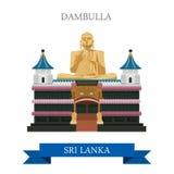 Dambulla韩国地标传染媒介平的吸引力旅行 向量例证