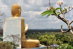 Dambulla,斯里兰卡的金黄菩萨 免版税库存图片