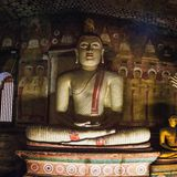 Dambulla,斯里兰卡金黄寺庙 库存图片