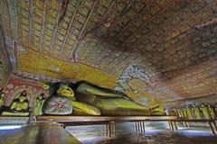 Dambulla洞寺庙-斯里兰卡联合国科教文组织世界遗产名录 免版税库存照片