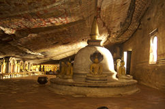 Dambulla洞寺庙-斯里兰卡 库存图片