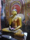 Золотой висок Dambulla место всемирного наследия и имеет итог итога 153 статуй Будды, 3 статуй шриланкийск стоковые изображения
