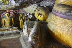 Dambulla Cave Sri Lanka. Buddha statue in Dambulla Cave Sri Lanka Stock Image