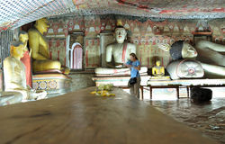 Dambulla cave temple Royalty Free Stock Image