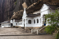 Dambulla cave temple also known as Golden Temple Royalty Free Stock Images