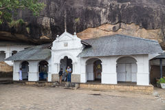 Dambulla cave temple also known as Golden Temple Royalty Free Stock Photos