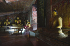 Dambulla cave temple Royalty Free Stock Images