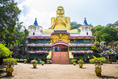 Dambulla Cave Temple, Golden Temple of Dambulla, Sri Lanka Royalty Free Stock Images