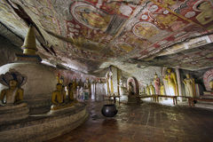 Dambulla cave temple Royalty Free Stock Photo