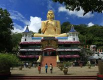 Dambulla Cave Temple in Sri Lanka. Is a part of the cultural Triangle declared by UNESCO and is about 19Km from Sigiriya. There are over 80 caves in the Stock Photos