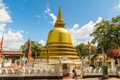 Dambulla guld- tempel Stupa Arkivbilder