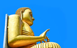 Dambulla-Höhlen-goldener Tempel und Statuen - Sri Lanka Lizenzfreie Stockfotos