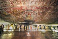 Dambulla jamy świątynia Obrazy Royalty Free
