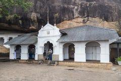 Dambulla jamy świątynia także znać jako Złota świątynia zdjęcia royalty free