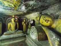Gautama Buddha, Dambulla, Sri Lanka royalty free stock photography