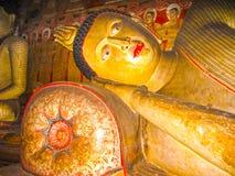 Dambulla, Sri Lanka - April 30, 2009: De tempel van het boeddhisten` hol Royalty-vrije Stock Foto's