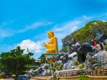 Dambulla, Sri Lanka - April 30, 2009: De tempel van het boeddhisten` hol Royalty-vrije Stock Fotografie
