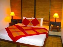 Dambulla Sri Lanka - April 30, 2009: Inre av rum på hotellet Chaya Village Hotel 4, Sri Lanka Royaltyfri Foto