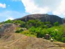 Dambulla Sri Lanka - April 30, 2009: Tempel för buddist`-grotta Arkivbilder