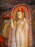 Dambulla, Sri Lanka - 30 aprile 2009: Tempio della caverna del ` dei buddisti Immagini Stock Libere da Diritti