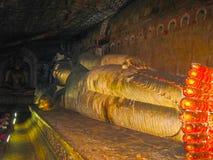 Dambulla, Sri Lanka - 30 aprile 2009: Tempio della caverna del ` dei buddisti Fotografie Stock Libere da Diritti