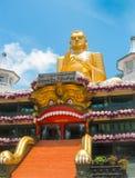 Dambulla, Sri Lanka - 30 aprile 2009: Tempio della caverna del ` dei buddisti Fotografia Stock
