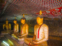 Dambulla, Sri Lanka - 30 de abril de 2009: Templo da caverna dos budistas Imagens de Stock Royalty Free