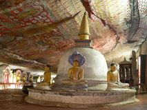 Dambulla temple Royalty Free Stock Images