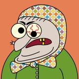 Dame âgée de dessin animé Images stock