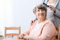 Dame âgée de gaieté images libres de droits