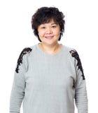Dame âgée de l'Asie image libre de droits