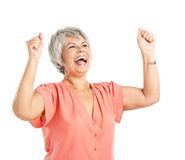 Dame âgée heureuse photos libres de droits
