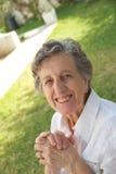 Dame âgée heureuse Photo stock