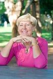 Dame âgée heureuse Images libres de droits