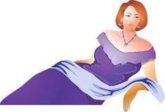 Dame royalty-vrije illustratie